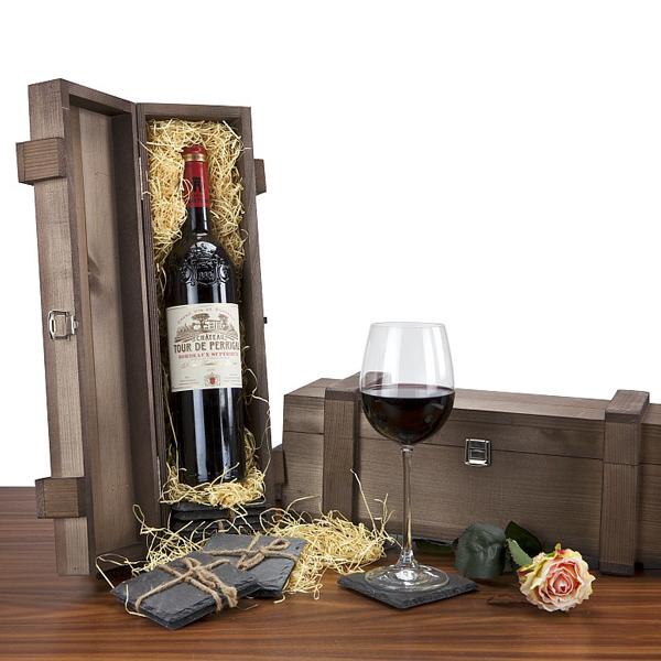 Bordeaux supérieur – Rotwein Präsentset