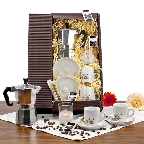 Espresso Set als Werbepräsent