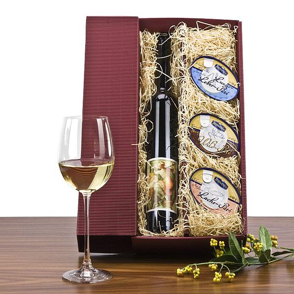 Michelangelo Wein Präsent mit Pasteten
