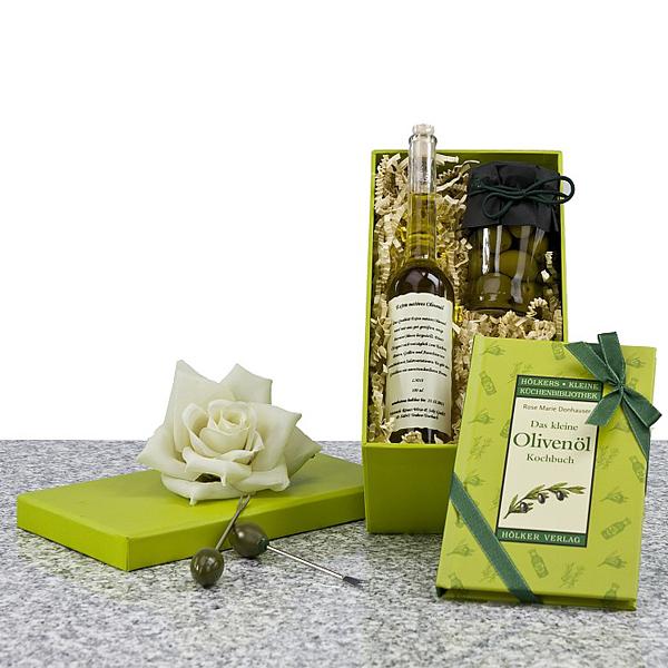 Oliven und Olivenöl als Geschenk Präsent