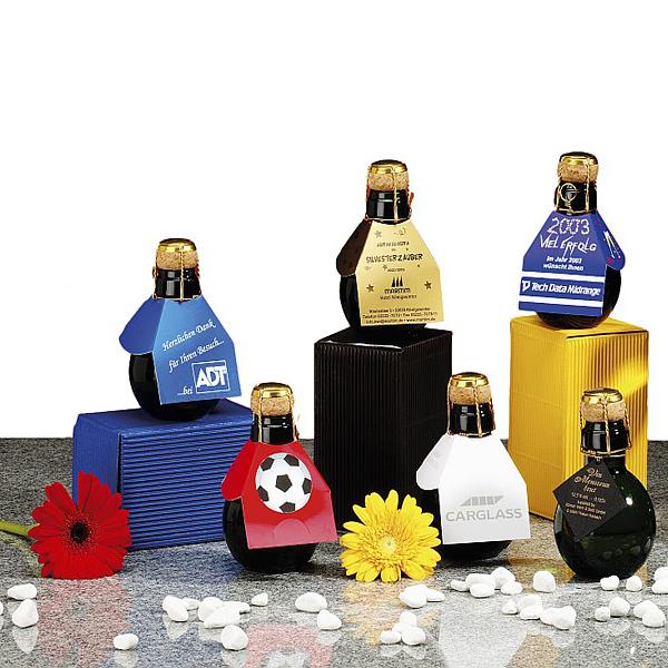 Die kleinste Sektflasche der Welt im 24er Karton