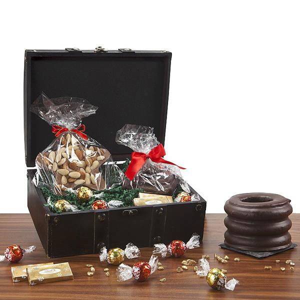 Weihnachts-Baumkuchen mit Lindt Schokolade als Werbepräsent