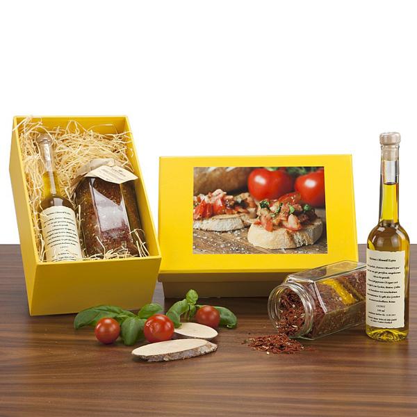 Bruscetta Set zum Wein als Werbegeschenk