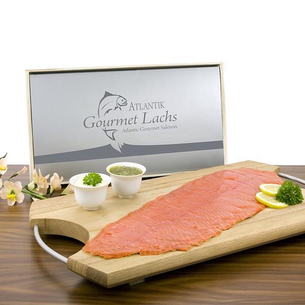 Gourmet Lachs 300g als Werbepräsent