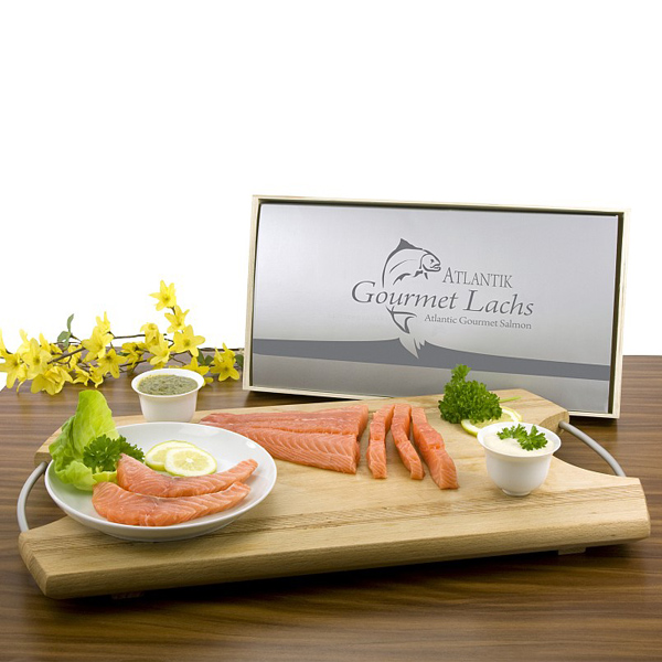 Gourmet Lachs Rückenfilet als Werbegeschenk