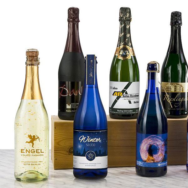 individuelle Sektflasche als Geschenk Präsent