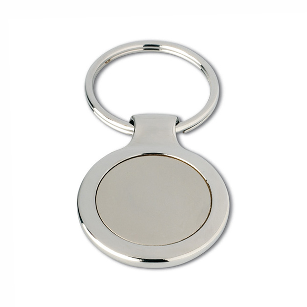 Schlüsselanhänger rund aus Metall (bedruckbar als Werbeartikel)