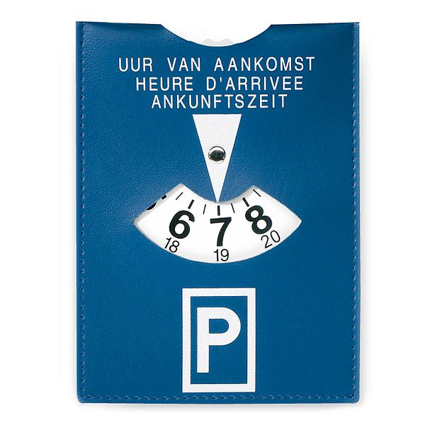 Parkscheibe – Parkuhr mit Logodruck