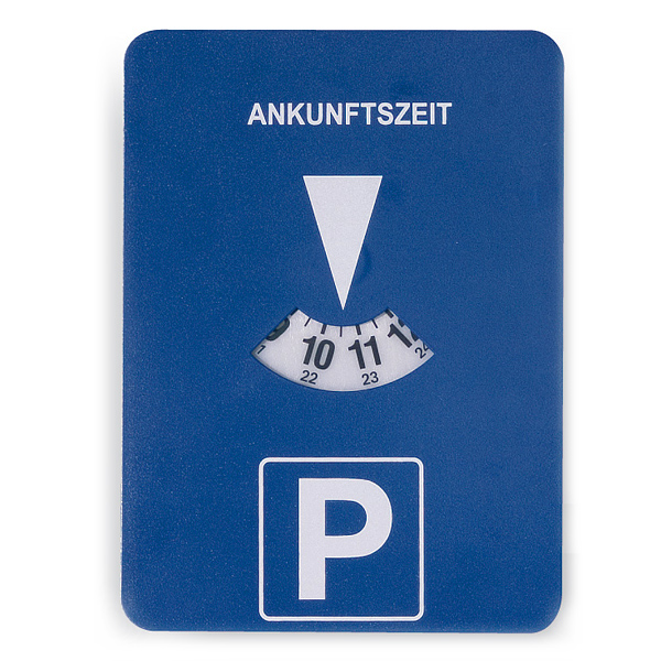 Parkscheibe – Parkuhr als Werbegeschenk zum bedrucken