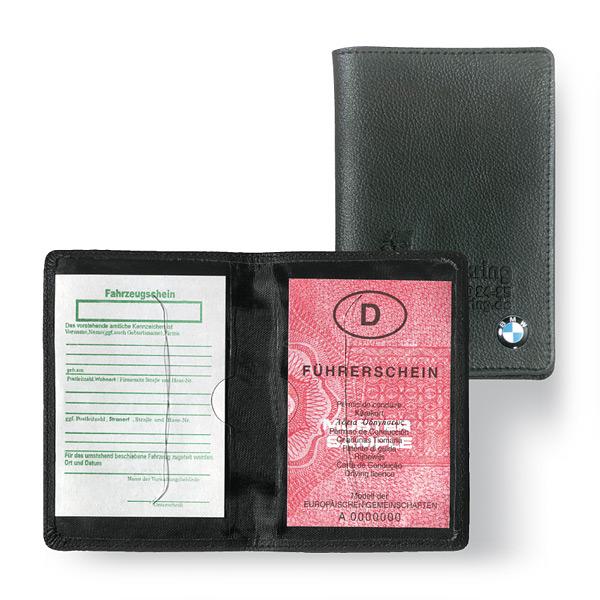 Leder Ausweistasche für Fahrzeugschein und Führerschein als Werbegeschenk