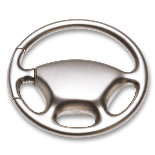 Lenkrad Schlüsselanhänger aus Metall (bedruckbar als Werbegeschenk)