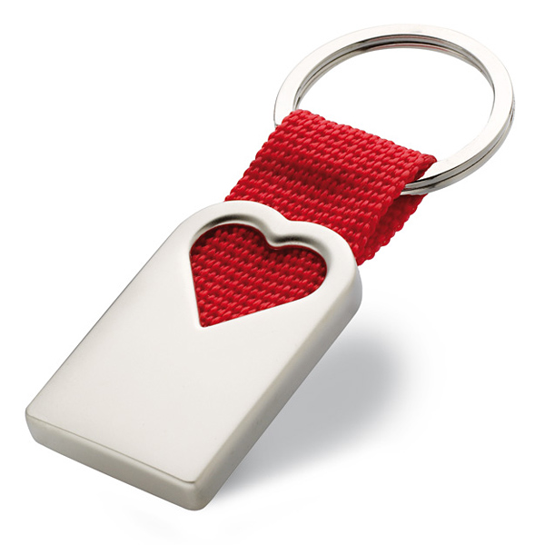 Herz-Schlüsselanhänger (mit Logo bedruckbar)
