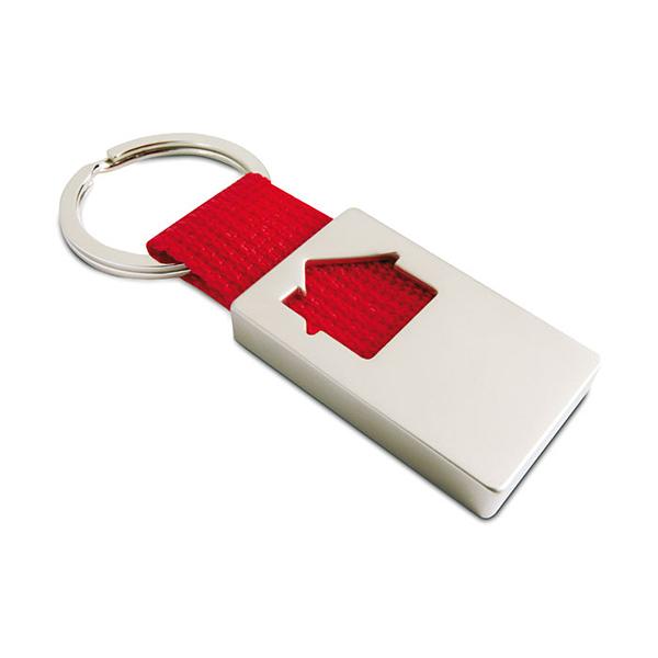 Schlüsselanhänger mit Haus  (bedruckbar als Werbeartikel)