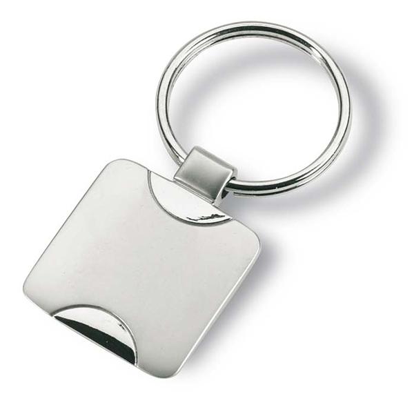 Schlüsselanhänger aus Metall (bedruckbar mit Firmenlogo)