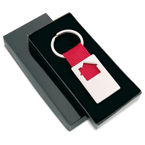 Schlüsselanhänger mit Haus bedruckbar als Werbeartikel