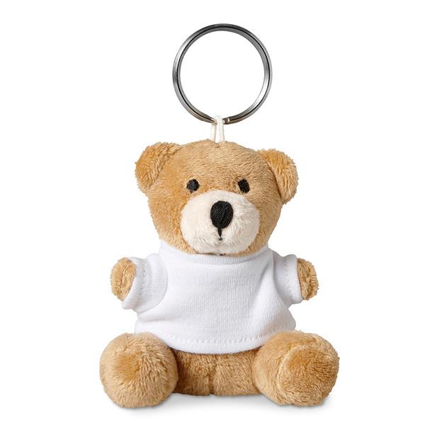 Schlüsselanhänger mit Teddy Bär als Werbeartikel zum Bedrucken
