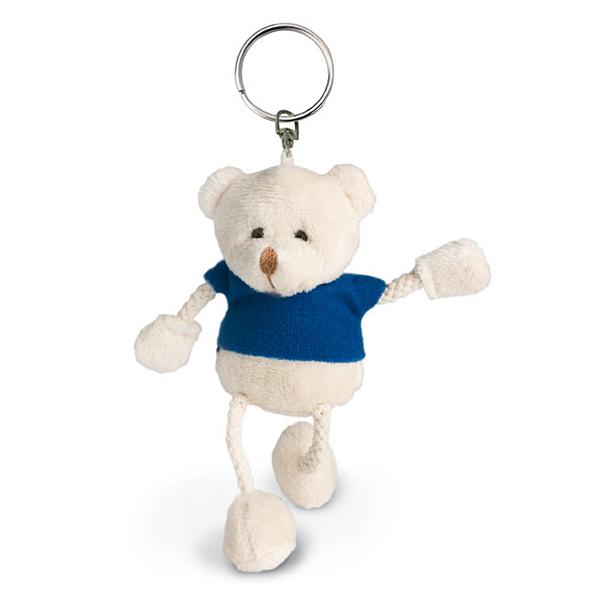 Schlüsselanhänger inkl. Plüschteddybär (bedruckbar)