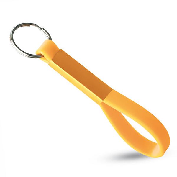 Schlüsselanhänger aus Silikon (bedruckbar als Werbegeschenk)