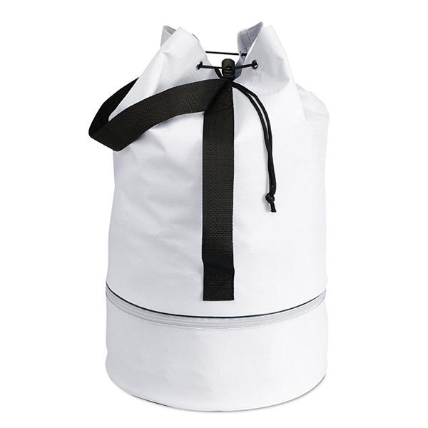 Seesack in weiß zum Bedrucken als Werbegeschenk
