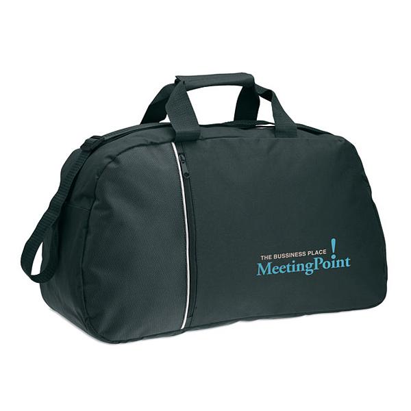 Sporttasche in blau oder schwarz (bedrucken als Werbemittel)