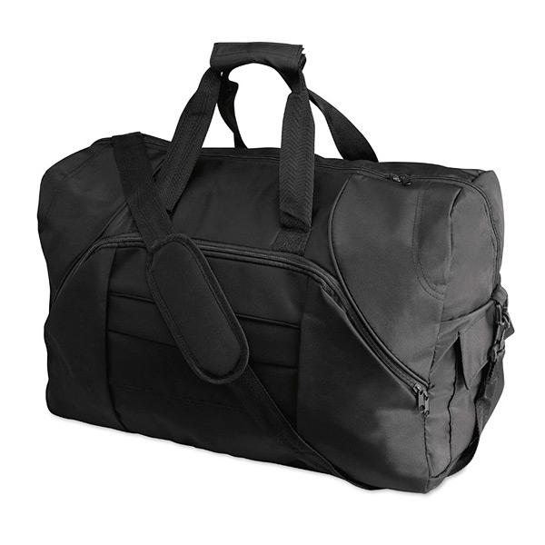 Sporttasche in schwarz als Werbegeschenk zum Bedrucken