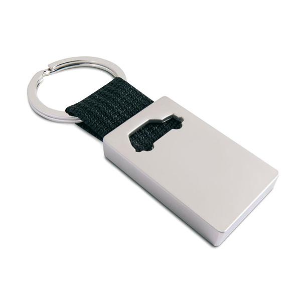 Schlüsselanhänger mit Auto (mit Logodruck als Werbegeschenk)