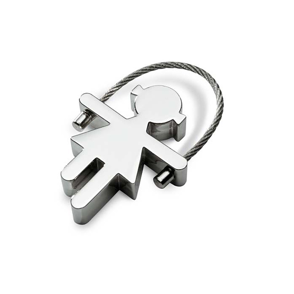 Schlüsselring aus Metall  als Männchen (Werbeartikel bedruckbar)