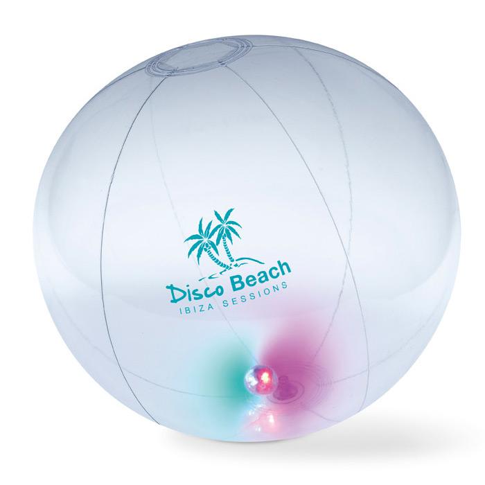 Strandball mit Licht zum bedrucken als Werbegeschenk
