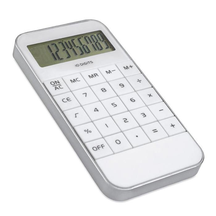 Taschenrechner in weiß zum Bedrucken