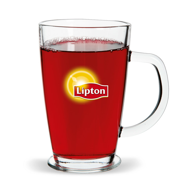 Teeglas bedruckbar mit Logo als Werbeartikel