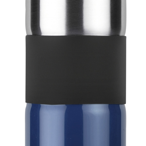 trinkflasche aus edelstahl zweifarbig mit karabiner. Black Bedroom Furniture Sets. Home Design Ideas