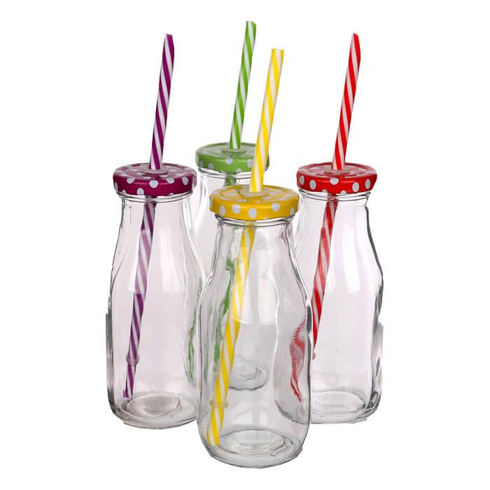 Trinkflasche mit Strohhalm Bedrucken als Werbegeschenk