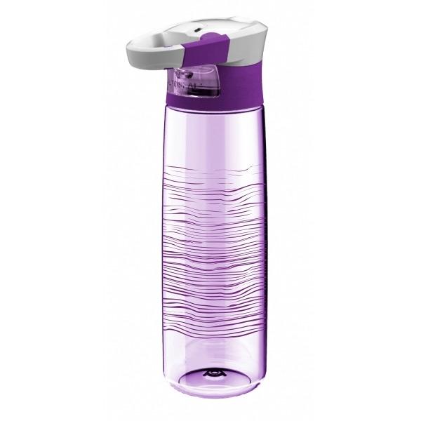 To Go Trinkflasche transparent mit Karabiner Clip