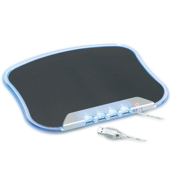 USB Mousepad mit USB Hub mit Beleuchtung und Kabel (zum bedrucken)