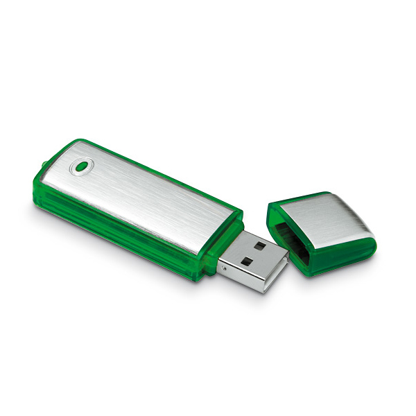 USB Stick aus Metall und Kunstoff mit Kappe (bedrucken mit Grafik)