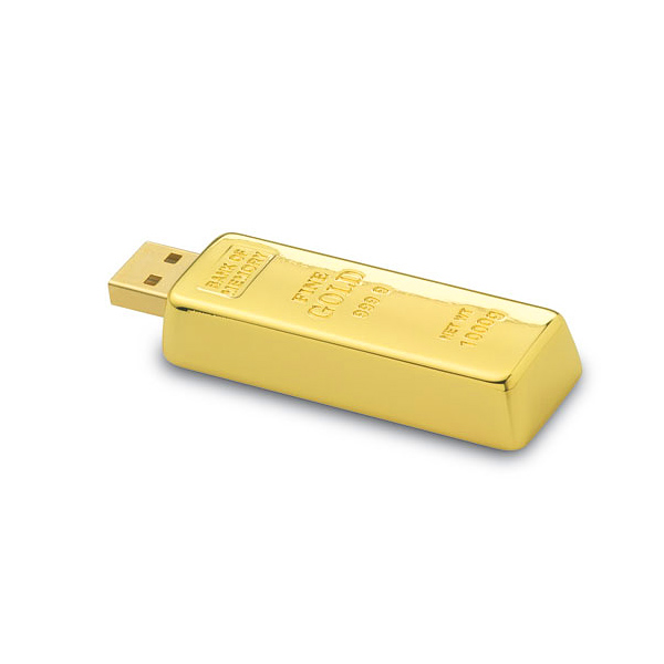 USB Stick als Goldbarren
