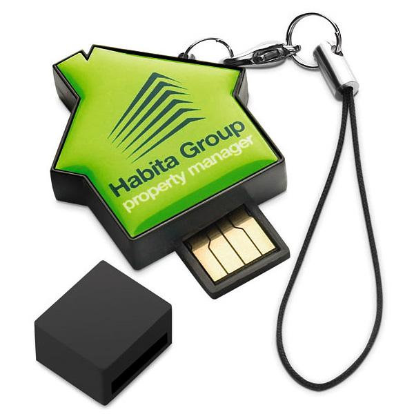 USB-Stick Haus (bedruckbar als Werbeartikel)