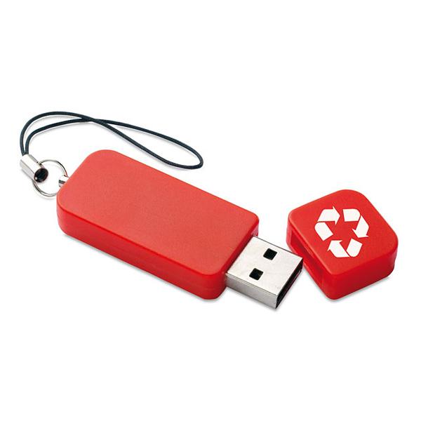 USB Stick aus recyceltem Plastik (bedrucken mit Grafikdruck)