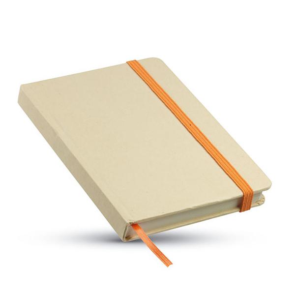 Umweltfreundliches Notizbuch mit Gummiband (bedruckbar)
