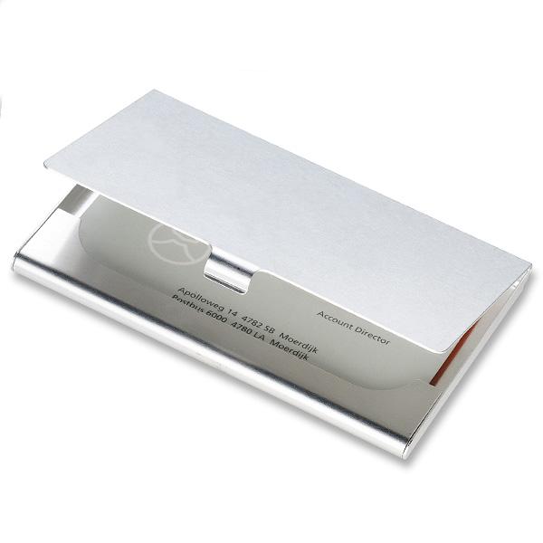 Etui für Visitenkarten aus Aluminium (zum bedrucken)