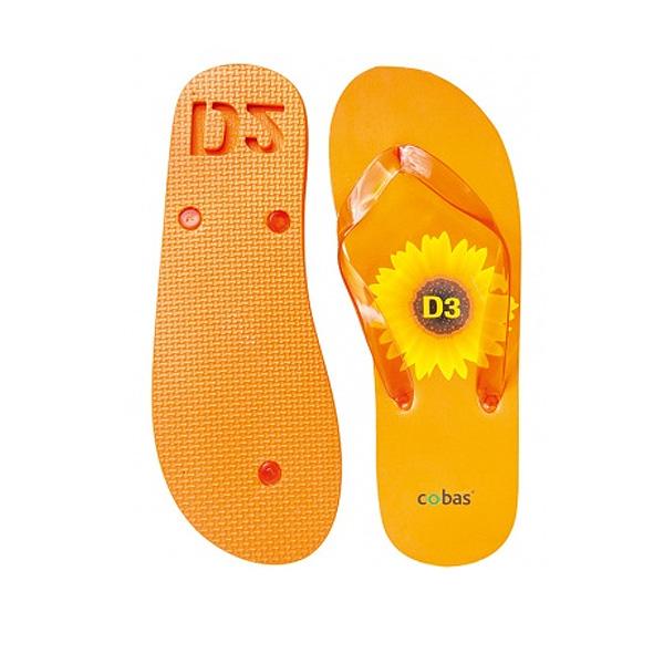 Zehensandalen orange (als Werbeartikel mit Logodruck)
