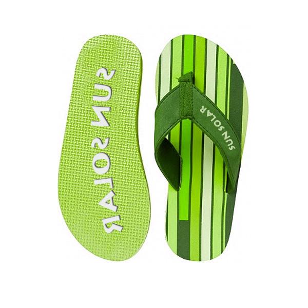Badeschuhe grün (Werbemittel mit Grafikdruck)