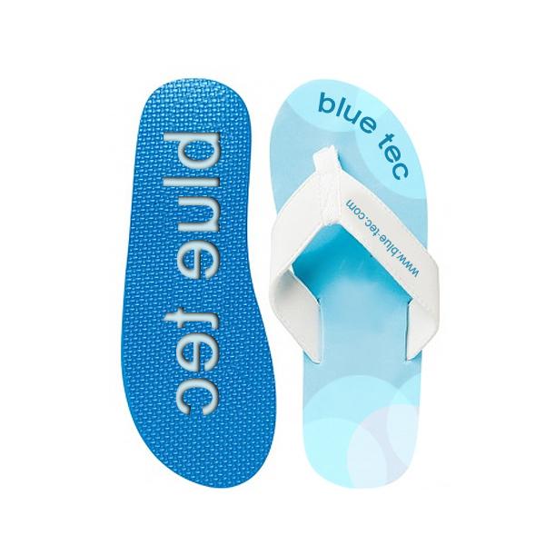Badeschuhe – Zehensandalen blau (als Werbegeschenk bedruckbar)