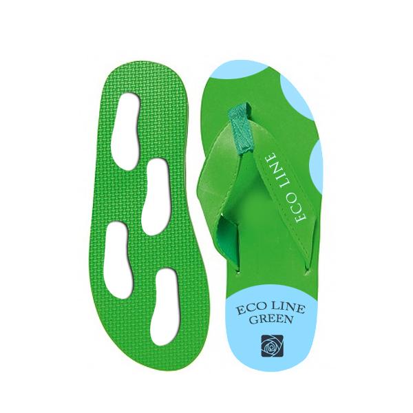 Zehensandalen grün blau (Werbegeschenk bedruckbar)