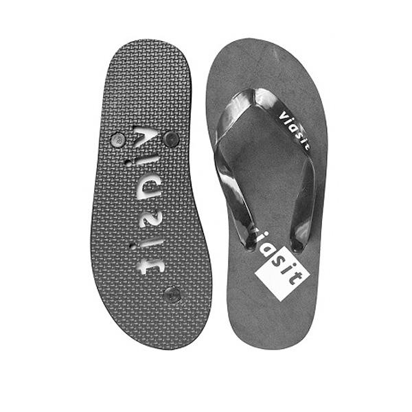 Strandsandalen grau (als Merchandising Artikel bedrucken)
