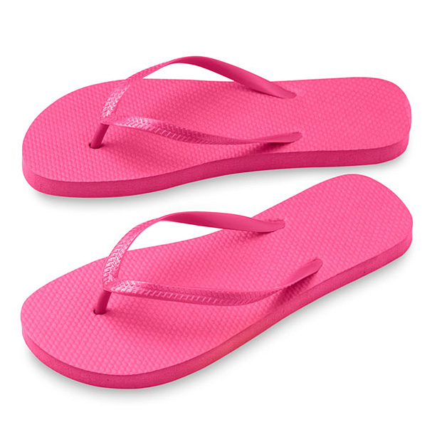 Zehensandalen schwarz rosa (Strandschuhe mit Logodruck)