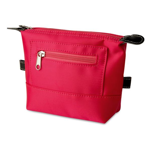 Beautytasche mit Reißverschluss in rot, rosa, blau (bedruckbar als Werbemittel)