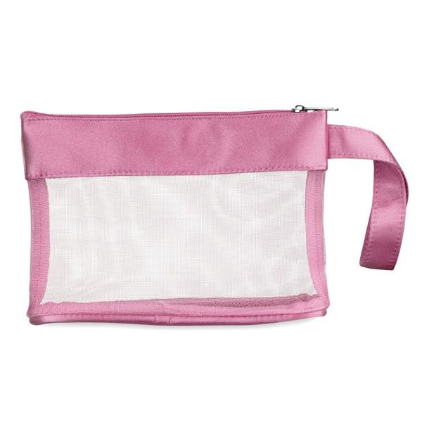 Kosmetiktasche glänzend in rosa, blau, grau, schwarz (bedruckbar)