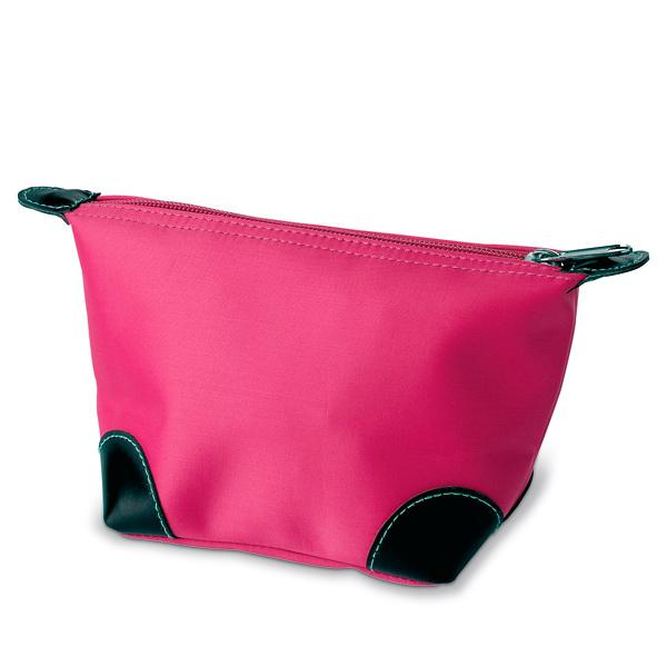 Kosmetik Tasche in rosa, pink, blau, schwarz mit Reißverschluss
