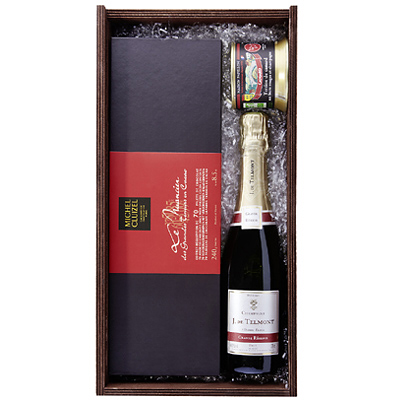 Champagner Werbepräsent Set Elegance